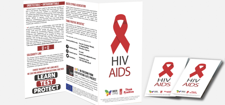 The Informative Leaflet of the Queer Cyprus Association on HIV-AIDS now available 'online'.